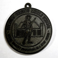 1 black medal coin