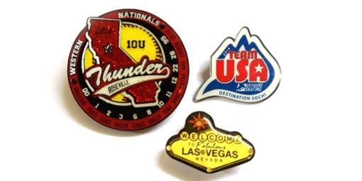 3 custom pins
