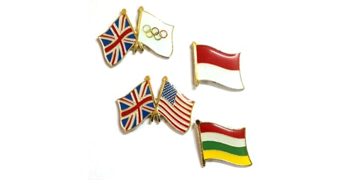 4 flag pins custom