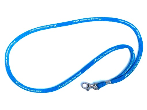 blue lanyard